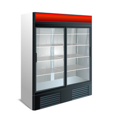 Refrigerator showcase kitchen vector