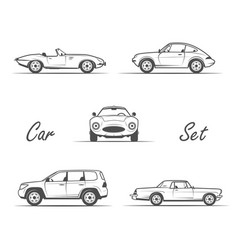 old cars in vintage style vector image