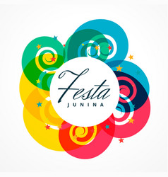 Latin american festival of festa junina holiday vector