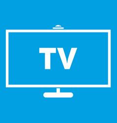 Television icon white vector