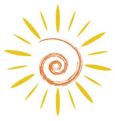 Doodle sun symbol vector