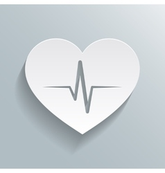 Heart beat rate icon vector image
