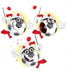Japanese cartoon ball vector