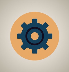 Gear setting icon vector