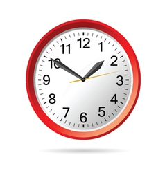 Clock in red vector