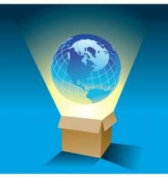 globe box vector image