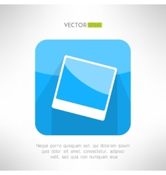 Vintage photo frame icon in modern clean and vector