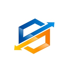 S arrow technology logo vector