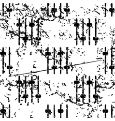 Faders pattern grunge monochrome vector