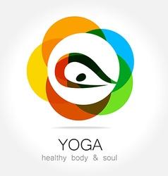 yoga health body soul vector image