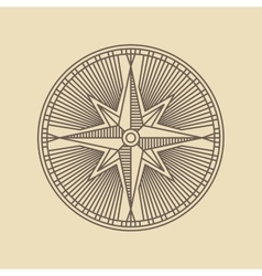 Round linear vintage compass logo vector