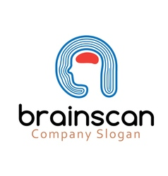 Brain scan design vector