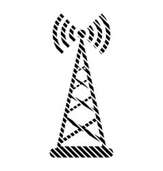 Transmitter sign on white vector