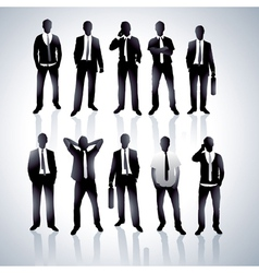 men in black suits vector image