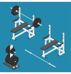 Press bench stand vector
