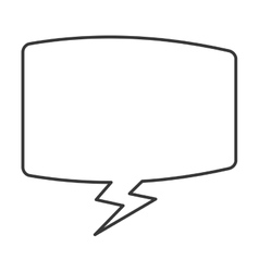 Rectangle conversation bubble icon vector