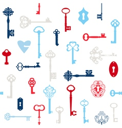 Antique keys background vector