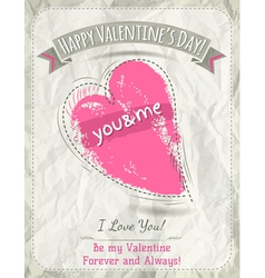 Background with valentine heart and wishes text vector