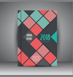 Business annual report design vector