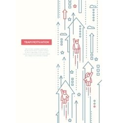 Business team - line design brochure poster vector