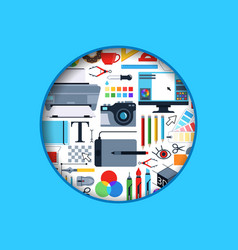 circle digital art design icons vector image vector image