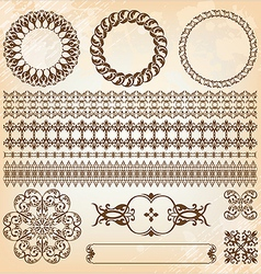 collection of beautiful vintage elements for vector image vector image