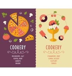 Cooking collection composition vector image vector image