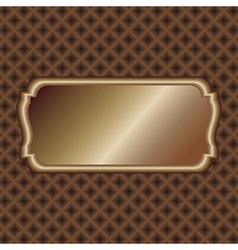 Dark-gold-label vector