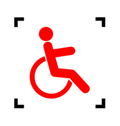 disabled sign red icon vector image vector image