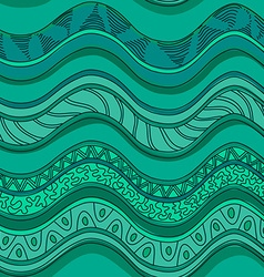 Ethnic seamless pattern of waves vector image