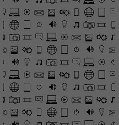 icons pattern vector image vector image