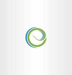 letter e bio organic logo icon vector image