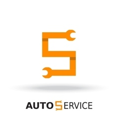 Logo template layout for auto service vector