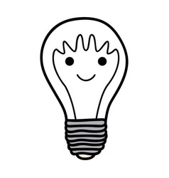 monochrome background of light bulb with filament vector image vector image