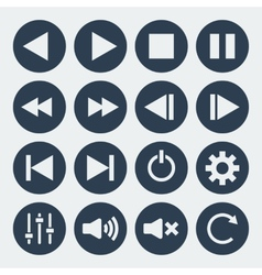 music control icons vector image