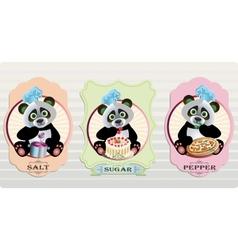 Panda Cpices vector image