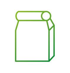 Paper lunch bag takeaway school element vector