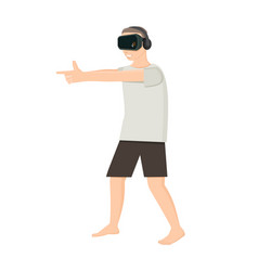 playing shooter in virtual reality vector image