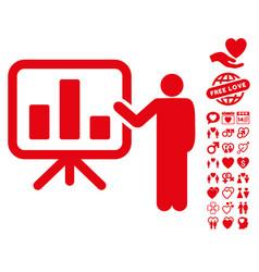 presentation icon with lovely bonus vector image