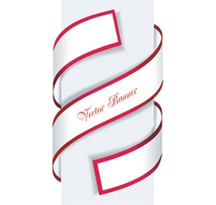Red and white paper sale arrow vector image vector image