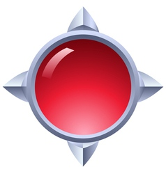 Ruby button vector image
