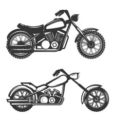 Set of motorcycle icons isolated on white vector