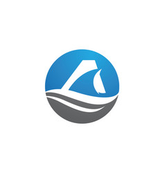 Shark logo template vector
