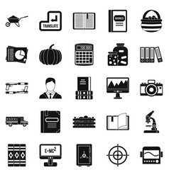 Skills icons set simple style vector