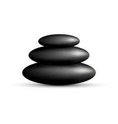 Stack of spa stones isolated on white vector