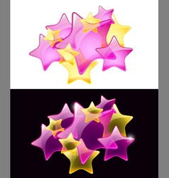 stars with transparency vector image vector image