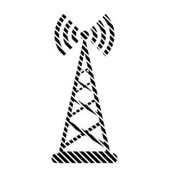 Transmitter sign on white vector