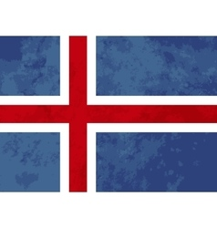 True proportions iceland flag with texture vector