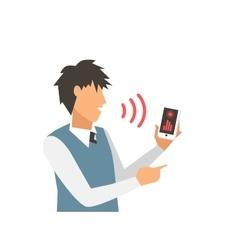 Voice control smart computer vector