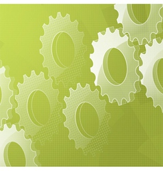 3d cog background on green vector